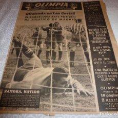 Coleccionismo deportivo: (LLL)OLIMPIA Nº: 22(10-2-53)BARÇA CAPIT.11,FIGURA:SAMITIER,BARÇA 6 AT.MADRID 1,KUBALA,CESAR. Lote 183551533
