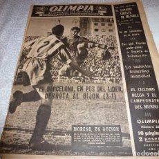 Coleccionismo deportivo: (LLL)OLIMPIA Nº: 23(17-2-53)BARÇA CAPIT.12,FIGURA:SEGARRA,VALENCIA 1 ESPAÑOL 1,BARÇA 3 GIJÓN 1. Lote 183551847
