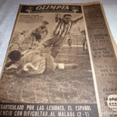 Coleccionismo deportivo: (LLL)OLIMPIA Nº: 28(24-3-53)BARÇA CAPIT.17,FIGURA:PIERA,ESPAÑOL-MÁLAGA,SEVILLA 4 BARÇA 2. Lote 183552346