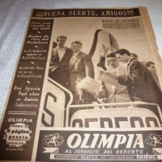 Coleccionismo deportivo: (LLL)OLIMPIA Nº: 42(30-6-53)BODAS ORO BADALONA 2 BARÇA(1942) 3,BODAS ORO ESPAÑOL CAP.8,MIGUEL GUAL. Lote 183552898
