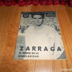 Coleccionismo deportivo: Nº 12 ZARRAGA. IDOLOS DEL DEPORTE, FÚTBOL, ORIGINAL 1958. Lote 183566783