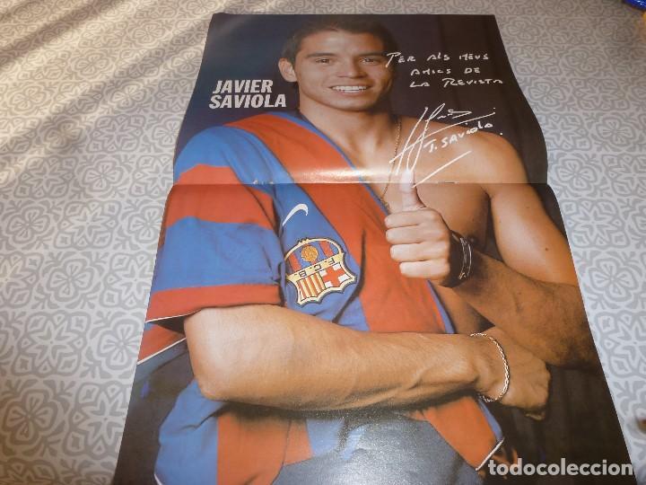 Coleccionismo deportivo: (LLL)F.C.BARCELONA Nº: 1(11-2002) POSTER SAVIOLA,ARTOLA Y OLMO,RECOPA BASILEA 1979 - Foto 2 - 183644437
