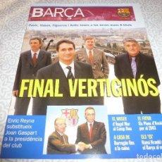 Coleccionismo deportivo: (LLL)F.C.BARCELONA Nº: 3(3-2003) POSTER SORIN,ANGEL MUR,KUBALA,HANSI KRANKL. Lote 183644748