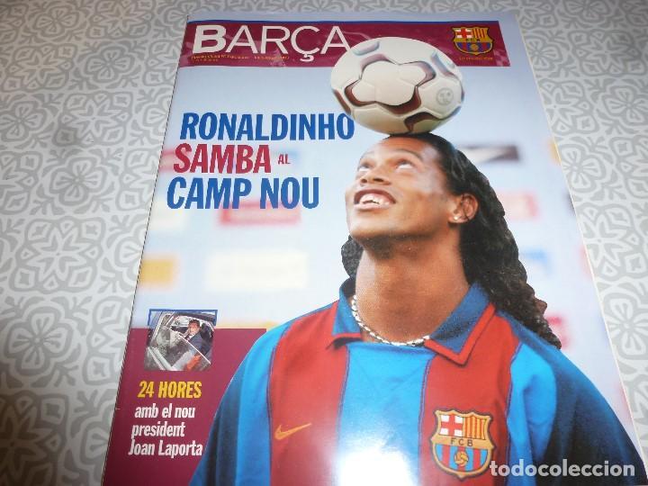 (LLL)F.C.BARCELONA Nº: 5(7 Y 8-2003) POSTER RONALDINHO,LIGA 1994,TORITO ZUVIRIA. (Coleccionismo Deportivo - Revistas y Periódicos - otros Fútbol)