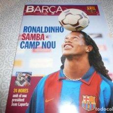 Coleccionismo deportivo: (LLL)F.C.BARCELONA Nº: 5(7 Y 8-2003) POSTER RONALDINHO,LIGA 1994,TORITO ZUVIRIA.. Lote 183646986