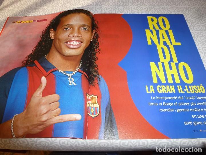 Coleccionismo deportivo: (LLL)F.C.BARCELONA Nº: 5(7 Y 8-2003) POSTER RONALDINHO,LIGA 1994,TORITO ZUVIRIA. - Foto 2 - 183646986