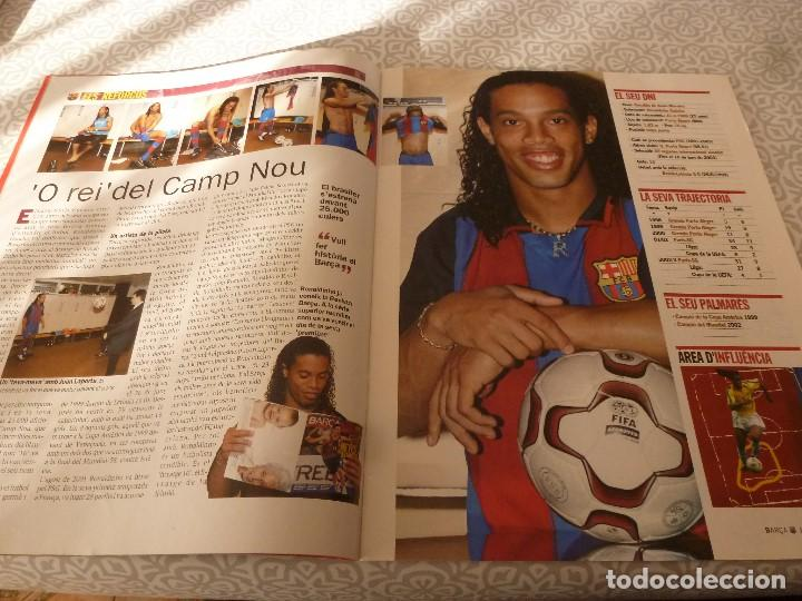 Coleccionismo deportivo: (LLL)F.C.BARCELONA Nº: 5(7 Y 8-2003) POSTER RONALDINHO,LIGA 1994,TORITO ZUVIRIA. - Foto 3 - 183646986