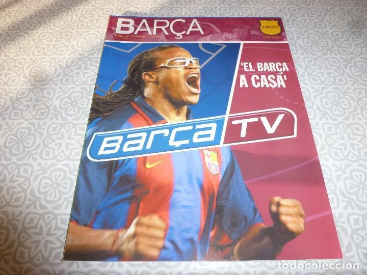 (LLL)F.C.BARCELONA Nº: 7(3-2004) POSTER BARÇA 2003-2004,ELADIO,PIERA (Coleccionismo Deportivo - Revistas y Periódicos - otros Fútbol)