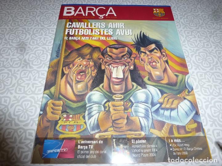 (LLL)F.C.BARCELONA Nº: 12(2-2005) POSTER RONALDINHO,RUD HESP (Coleccionismo Deportivo - Revistas y Periódicos - otros Fútbol)