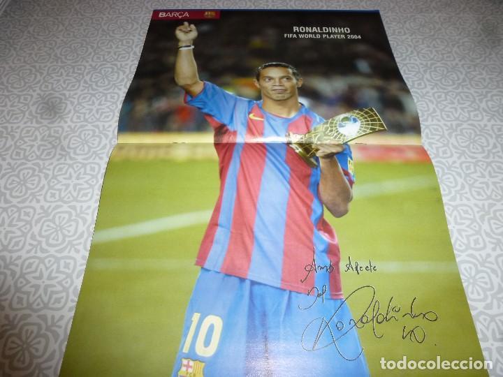 Coleccionismo deportivo: (LLL)F.C.BARCELONA Nº: 12(2-2005) POSTER RONALDINHO,RUD HESP - Foto 2 - 183653570