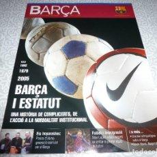 Coleccionismo deportivo: (LLL)F.C.BARCELONA Nº: 14(4-2005) POSTER SAMUEL ETO`O,FERRÁN MARTINEZ,MICHELS,BARÇA Y ARTE. Lote 183653792