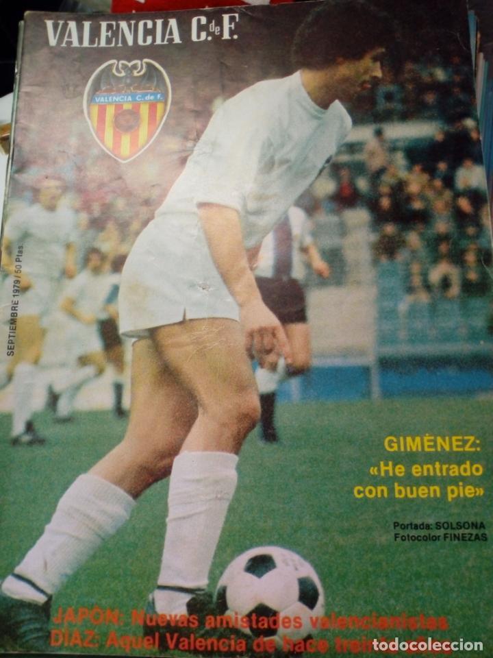 Coleccionismo deportivo: LOTE DE 10 REVISTAS - REVISTA VALENCIA C.F. - 1979 - Foto 2 - 183773232
