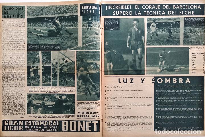 Coleccionismo deportivo: BARÇA Nº 313 - LADISLAO KUBALA - ERIKSSON Y SKIOELD EN EL ESTADIO AZULGRANA - AÑO 1961 - Foto 2 - 183780136