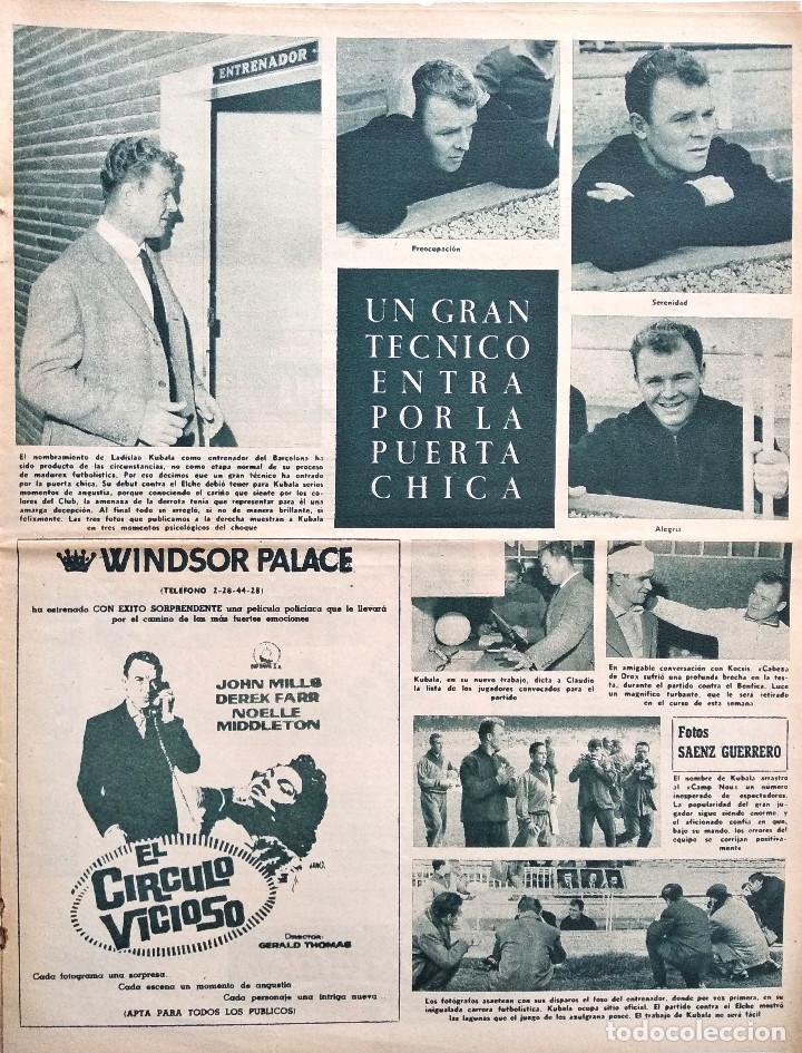Coleccionismo deportivo: BARÇA Nº 313 - LADISLAO KUBALA - ERIKSSON Y SKIOELD EN EL ESTADIO AZULGRANA - AÑO 1961 - Foto 3 - 183780136