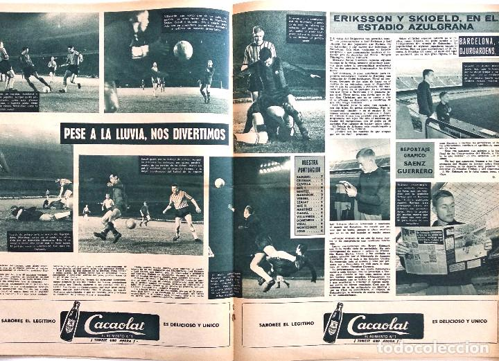 Coleccionismo deportivo: BARÇA Nº 313 - LADISLAO KUBALA - ERIKSSON Y SKIOELD EN EL ESTADIO AZULGRANA - AÑO 1961 - Foto 4 - 183780136
