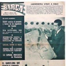 Coleccionismo deportivo: BARÇA Nº 385 - SASOT ENTRENADOR DEL CONDAL - EL BARCELONA - EL OSASUNA - AÑO 1963. Lote 183782638