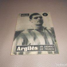 Coleccionismo deportivo: ARGILES, UN ZAGUERO DE PRIMERA. COLECCION IDOLOS DEL DEPORTE NUM. 88.. Lote 183828551