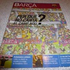 Coleccionismo deportivo: (LLL)F.C.BARCELONA Nº: 18(12-2005)POSTER SOCIOS EN CAMP NOU DIBUJO DE PILAR BAYÉS,MANUEL VICH. Lote 183839095