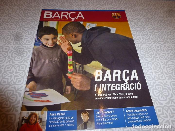 (LLL)F.C.BARCELONA Nº: 19(2-2006)POSTER RONALDINHO,MESSI Y ETO`O,SIMONSSEN AYER Y HOY (Coleccionismo Deportivo - Revistas y Periódicos - otros Fútbol)