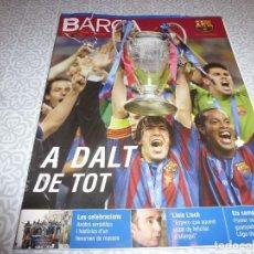 Coleccionismo deportivo: (LLL)F.C.BARCELONA Nº: 21(6-2006)POSTER BARÇA CAMPEÓN CHAMPIONS,PAPI ANGUERA.. Lote 183840896