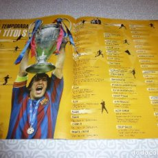 Coleccionismo deportivo: (LLL)F.C.BARCELONA Nº: 22(8-2006)POSTER TITULOS DE LA TEMPORADA,JOAQUIM Mª PUYAL,ZALDÚA,NEESKENS. Lote 183841167