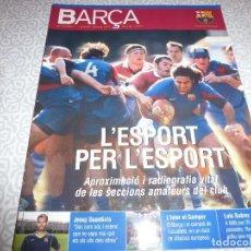 Coleccionismo deportivo: (LLL)F.C.BARCELONA Nº: 28(8-2007)POSTER 50 ANIVERSARIO DEL CAMP NOU,LUIS SUAREZ,CÉSAR RODRIGUEZ.. Lote 183877771