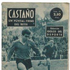 Coleccionismo deportivo: CASTAÑO, UN PUNTAL FIRME DEL BETIS - COLECCIÓN ÍDOLOS DEL DEPORTE Nº 67 - AÑO 1959. Lote 183917230