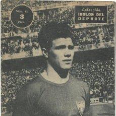 Coleccionismo deportivo: ACHÚCARRO, EL MEJOR FICHAJE DEL SEVILLA - COLECCIÓN ÍDOLOS DEL DEPORTE Nº 83 - AÑO 1959. Lote 183917700