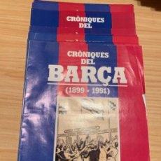 Coleccionismo deportivo: CRÓNIQUES DEL BARÇA 1881-1981. Lote 184204808