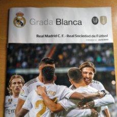 Coleccionismo deportivo: REAL MADRID - REAL SOCIEDAD GRADA BLANCA 23.11.2019 PROGRAMA POSTER KROOS. Lote 184267553