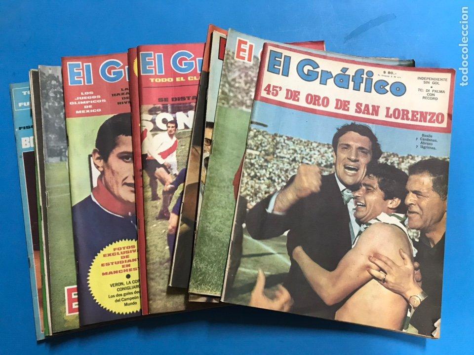 14 REVISTAS EL GRAFICO - AÑOS 1960 Y 1970, BUENOS AIRES, ARGENTINA - VER FOTOS ADICIONALES (Coleccionismo Deportivo - Revistas y Periódicos - otros Fútbol)