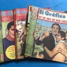 Coleccionismo deportivo: 14 REVISTAS EL GRAFICO - AÑOS 1960 Y 1970, BUENOS AIRES, ARGENTINA - VER FOTOS ADICIONALES. Lote 184467235