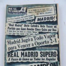 Collectionnisme sportif: REVISTA REAL MADRID AGOSTO 1956, Nº 73, 2 PTAS, PORTADA PERIODICOS PEQUEÑA COPA DEL MUNDO. 31 PAG. C. Lote 184526065