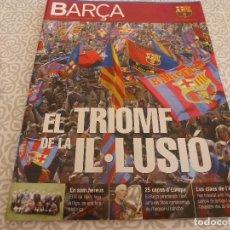 Coleccionismo deportivo: (LLL)F.C.BARCELONA Nº: 15(6-2005)POSTER BARÇA CAMPÉON LIGA 2004-05,VAZQUEZ MONTALBÁN,EX-BARÇA. Lote 184739230