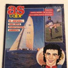 Coleccionismo deportivo: REVISTA AS COLOR, Nº 271-AÑO 1991. REPORTAJES: HUGO SANCHEZ, COPA AMÉRICA Y OTROS.. Lote 186032636