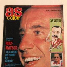 Coleccionismo deportivo: REVISTA AS COLOR, Nº 296-AÑO 1991. REPORTAJES: RUIZ MATEOS, JOAQUÍN, MAX MERKEL Y OTROS.. Lote 186032691