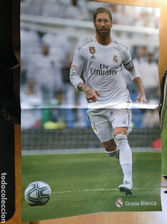 Coleccionismo deportivo: Real Madrid - Espanyol 7/12/2019 Grada Blanca programa poster Ramos - Foto 2 - 186153306