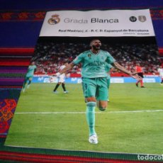 Coleccionismo deportivo: GRADA BLANCA REAL MADRID RCD ESPANYOL. 7-12-19 JORNADA 16. PÓSTER SERGIO RAMOS. MBE.. Lote 186206707