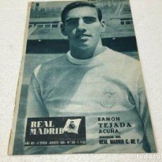 Coleccionismo deportivo: REVISTA REAL MADRID AGOSTO 1965 XI EUROPEAN CUP :REAL MADRID - FEIJENOORD. Lote 186428160