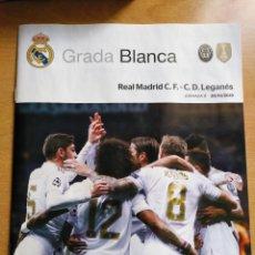 Coleccionismo deportivo: REAL MADRID - LEGANÉS GRADA BLANCA 30/10/2019 PROGRAMA. POSTER RODRYGO. Lote 187170483