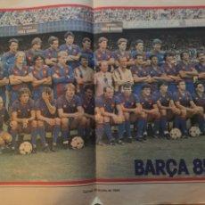 Coleccionismo deportivo: FC BARCELONA POSTER CAMPEÓN 85-86. Lote 187548018