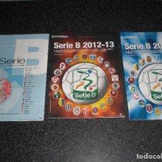 Coleccionismo deportivo: LOTE 3 EXTRA LIGA ITALIA SERIE B GUERIN SPORTIVO ITALIA. Lote 187579097