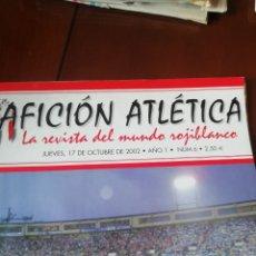 Coleccionismo deportivo: REVISTA ATLÉTICO MADRID. AFICIÓN ATLÉTICA 2002.. Lote 187579401