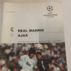 Collezionismo sportivo: REAL MADRID AJAX PROGRAMA CHAMPIONS 22-11-1995. Lote 187758723