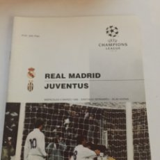 Collezionismo sportivo: REAL MADRID JUVENTUS PROGRAMA CHAMPIONS 6-3-1996. Lote 187760956