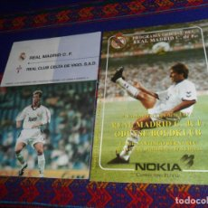 Collezionismo sportivo: PROGRAMA OFICIAL COPA DE LA UEFA REAL MADRID ODENSE BOLDKLUB. 6-12-94. REGALO LIGA CELTA DE VIGO.. Lote 188279737