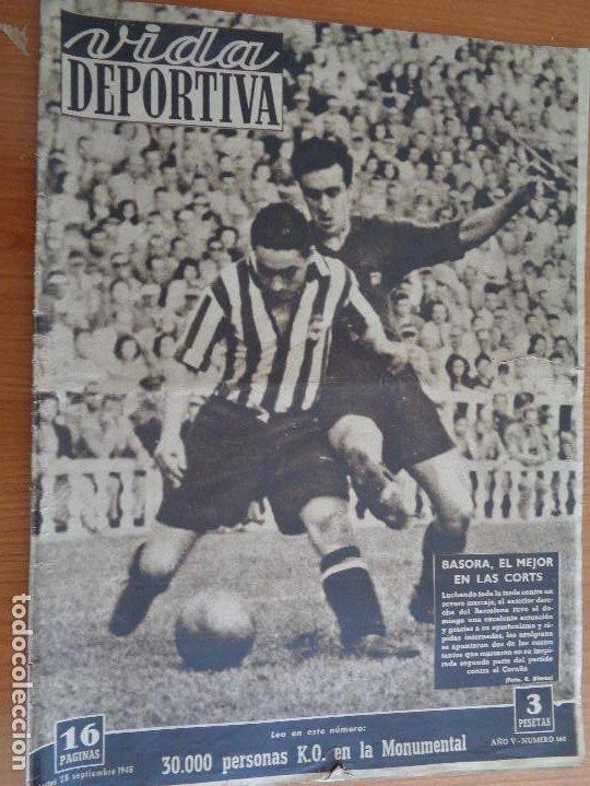 VIDA DEPORTIVA SETIEMBRE 1948. BASORA EL MEJOR EN LAS CORTS. MUY BUEN ESTADO (Coleccionismo Deportivo - Revistas y Periódicos - otros Fútbol)