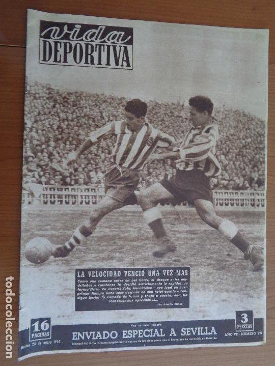 VIDA DEPORTIVA ENERO 1950 LA VELOCIDAD VENCIÓ UNA VEZ MÁS. MUY BUEN ESTADO (Coleccionismo Deportivo - Revistas y Periódicos - otros Fútbol)