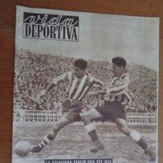 Coleccionismo deportivo: VIDA DEPORTIVA ENERO 1950 LA VELOCIDAD VENCIÓ UNA VEZ MÁS. MUY BUEN ESTADO. Lote 189645358