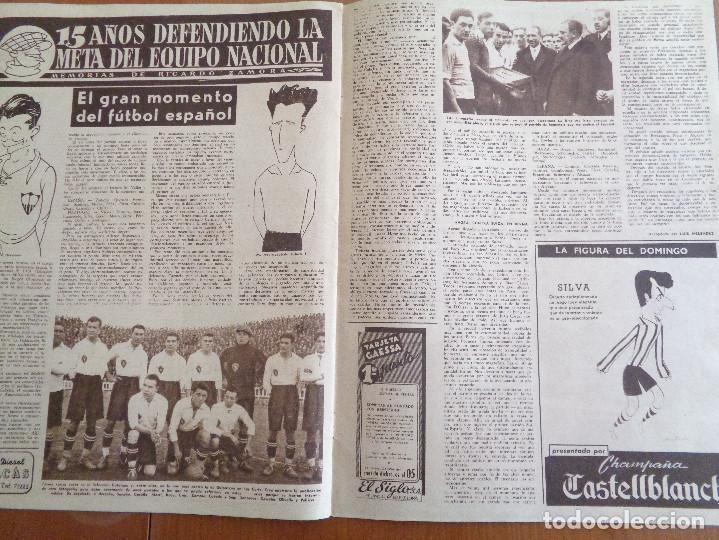 Coleccionismo deportivo: Vida Deportiva Enero 1950 La velocidad venció una vez más. Muy buen estado - Foto 4 - 189645358